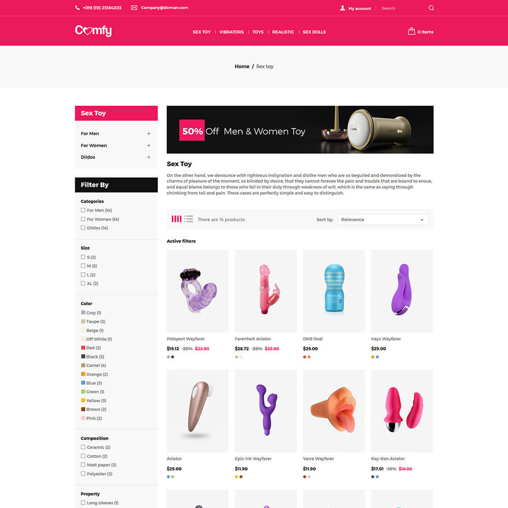 theme - Lenceria y Adultos - Comfort Adult - Sex Toys Pleasure Store - 4