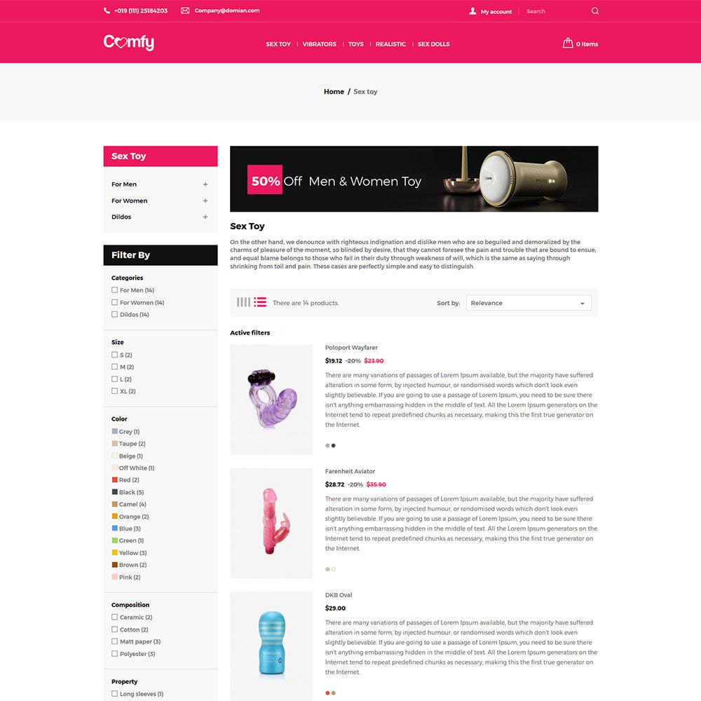 theme - Нижнее белье и товары для взрослых - Comfort Adult - Sex Toys Удовольствие Магазин - 5