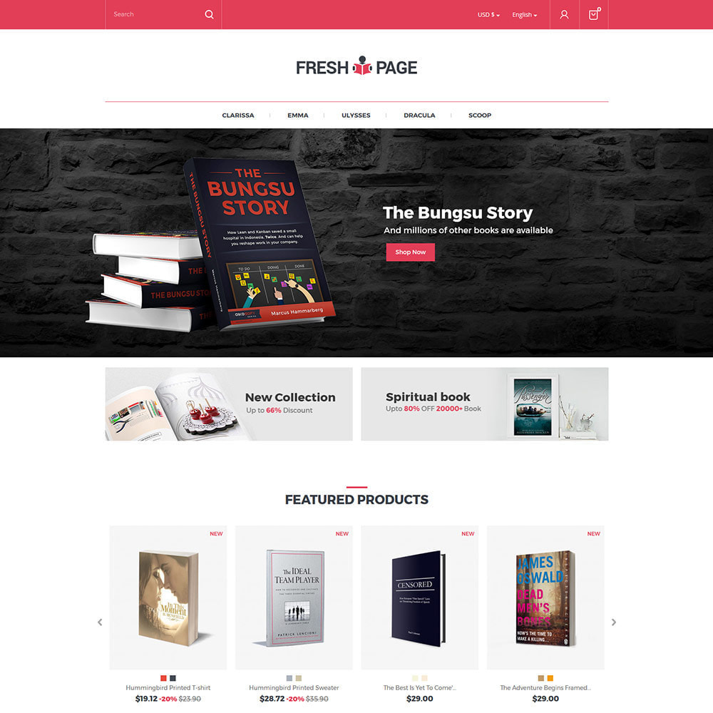 theme - Kultura & Sztuka - Fresh Page Book - Ebook Library Store - 3