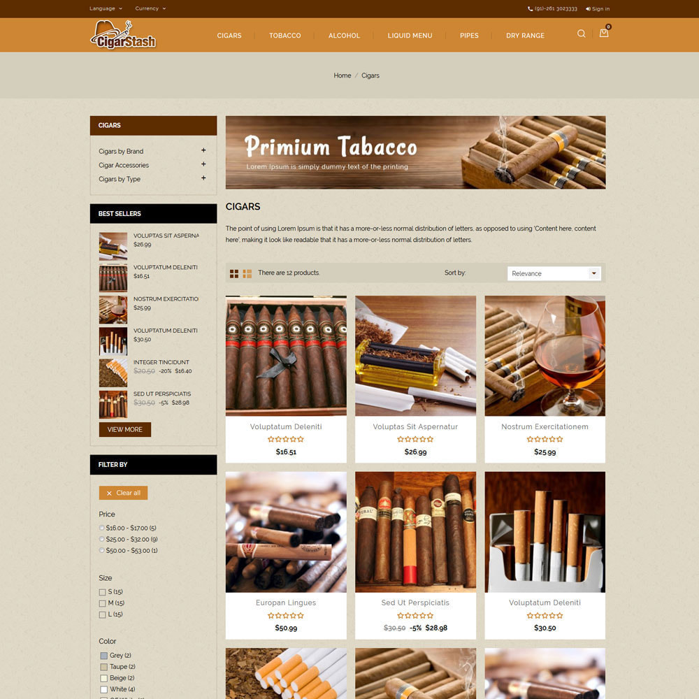 theme - Drink & Tobacco - CigarStash Store - 4