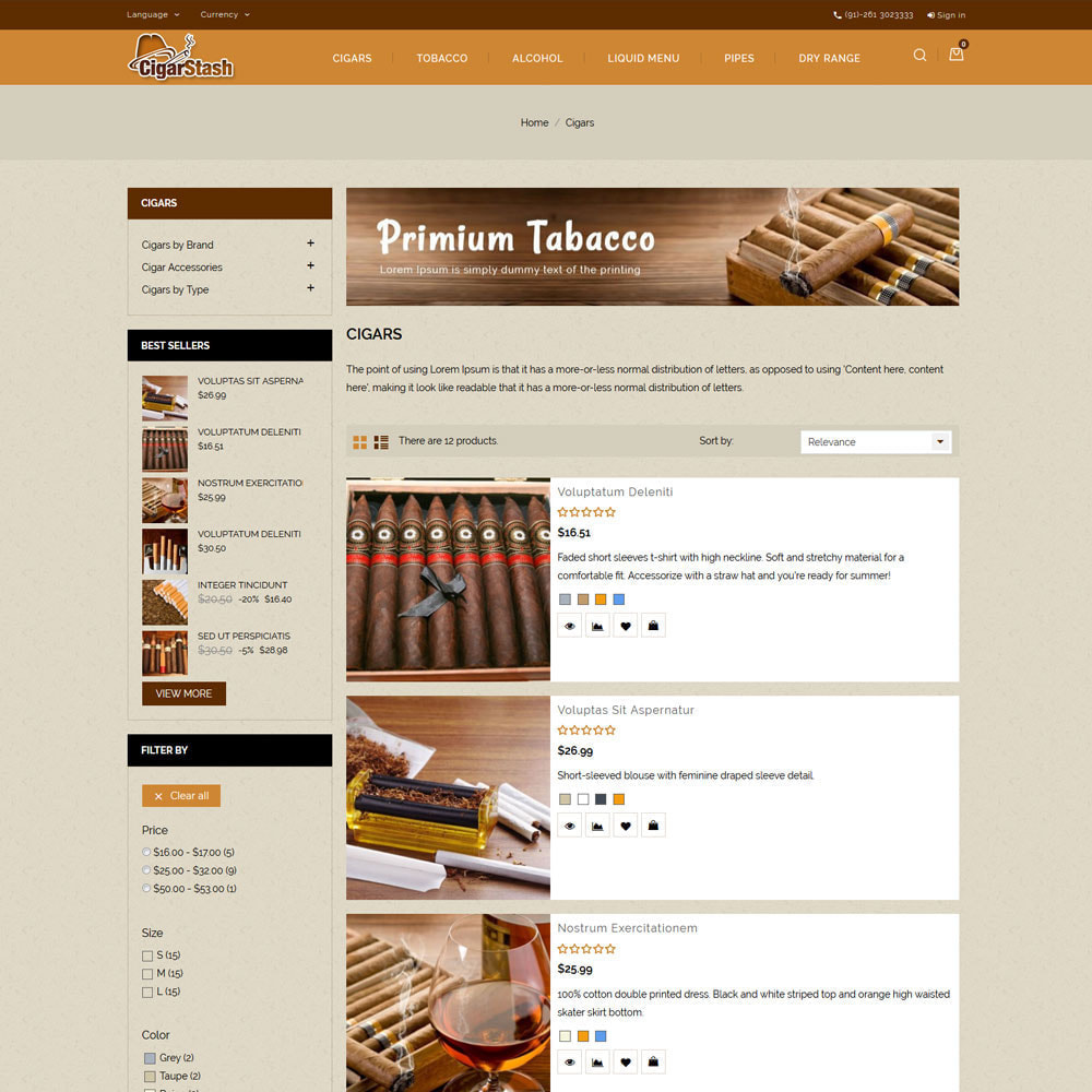 theme - Bebidas y Tabaco - Cigar Stash Store - 5