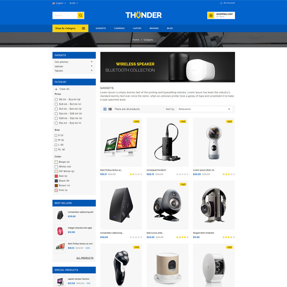 theme - Electrónica e High Tech - Thunder - Electronics Store - 3
