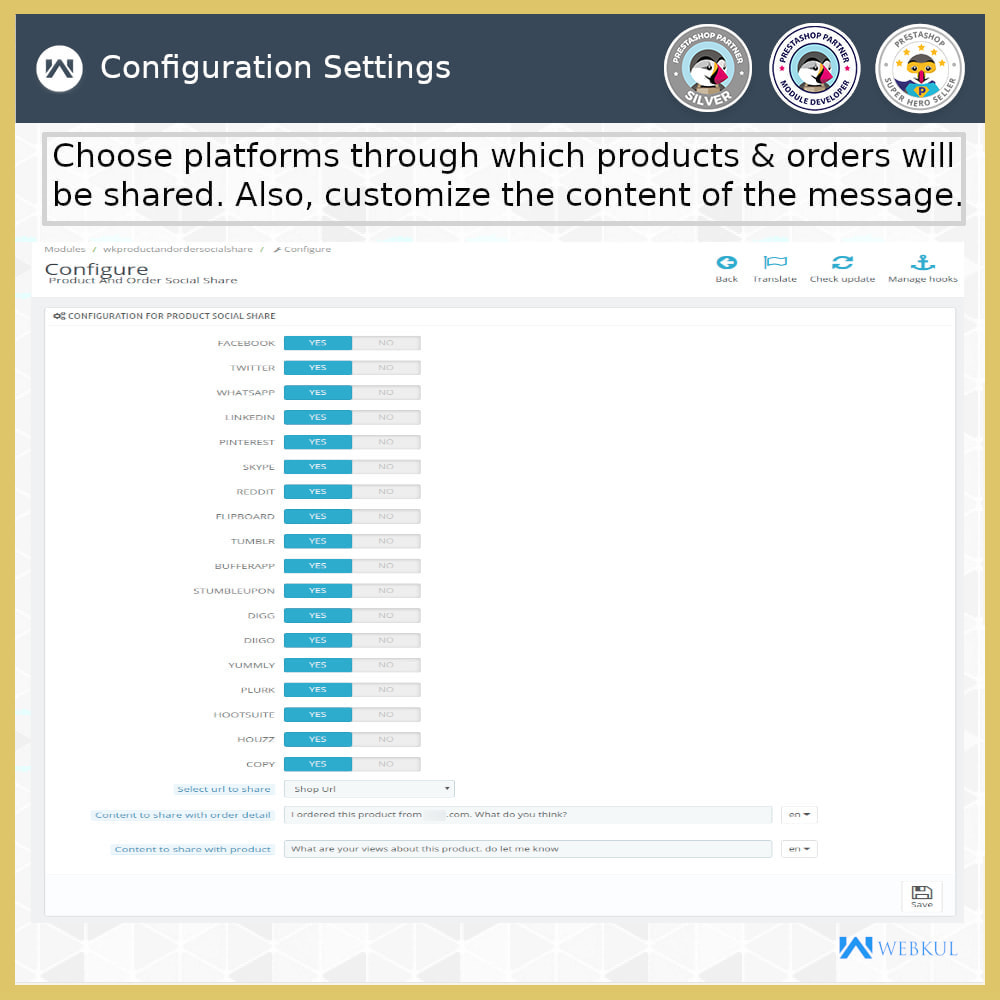 module - Compartir contenidos y Comentarios - Product and Order Social Share - 6