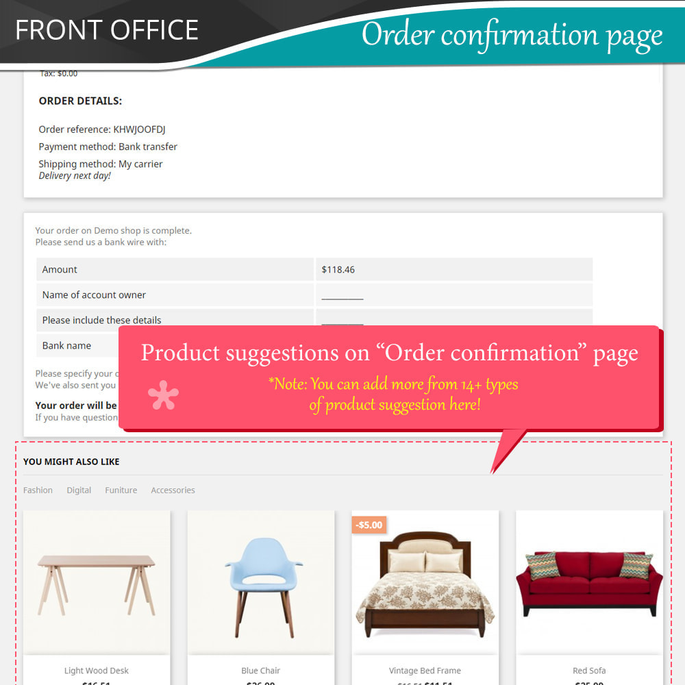 module - Kruisverkoop & Pakketaanbiedingen - Cross Selling Pro - Upsell - Shopping cart & all pages - 8