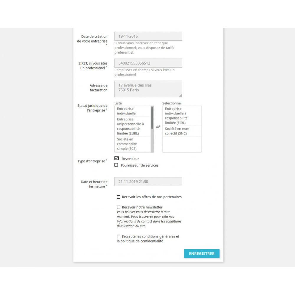 module - Inscription & Processus de commande - Champs d'inscription Personnalisés - 3