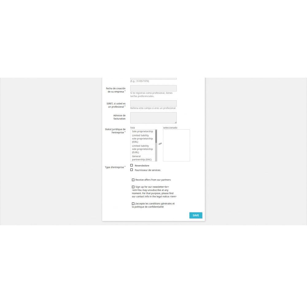 module - Inscripción y Proceso del pedido - Registro Personalizado - 3
