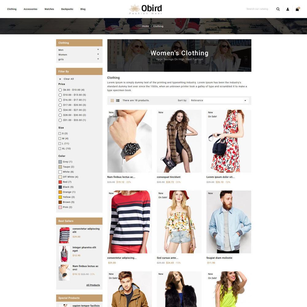 theme - Fashion & Shoes - oBird - Fashion Store - 3