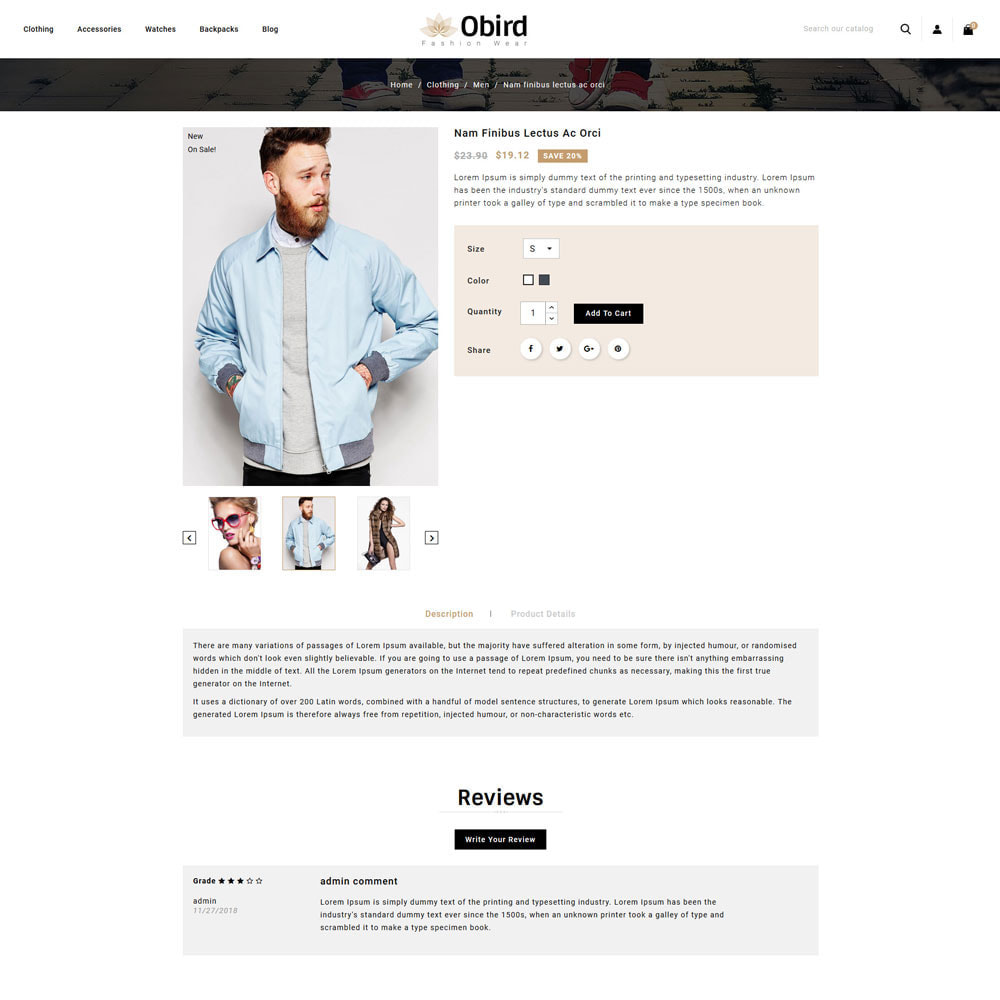 theme - Fashion & Shoes - oBird - Fashion Store - 4