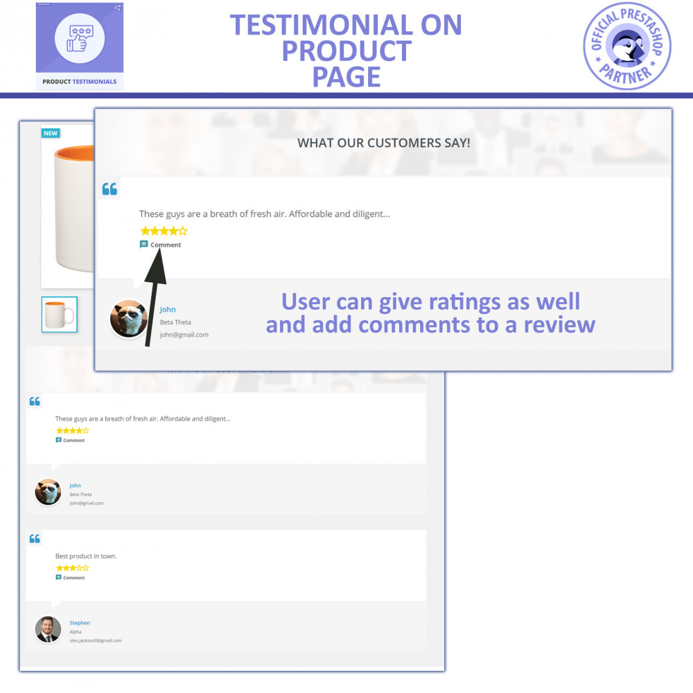 module - Klantbeoordelingen - Customer Product Reviews + Store Testimonials - 2