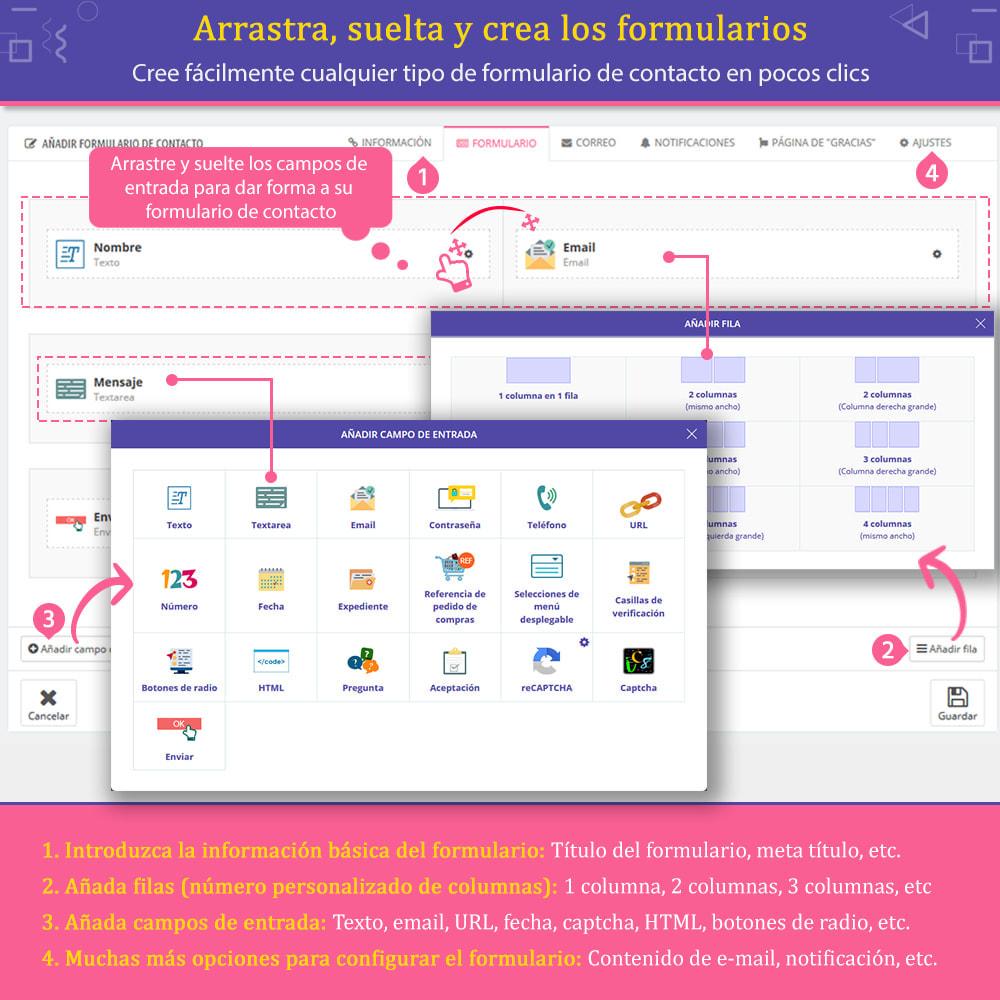 module - Formulario de contacto y Sondeos - Contact Form Ultimate: Arrastra y suelta formularios - 2