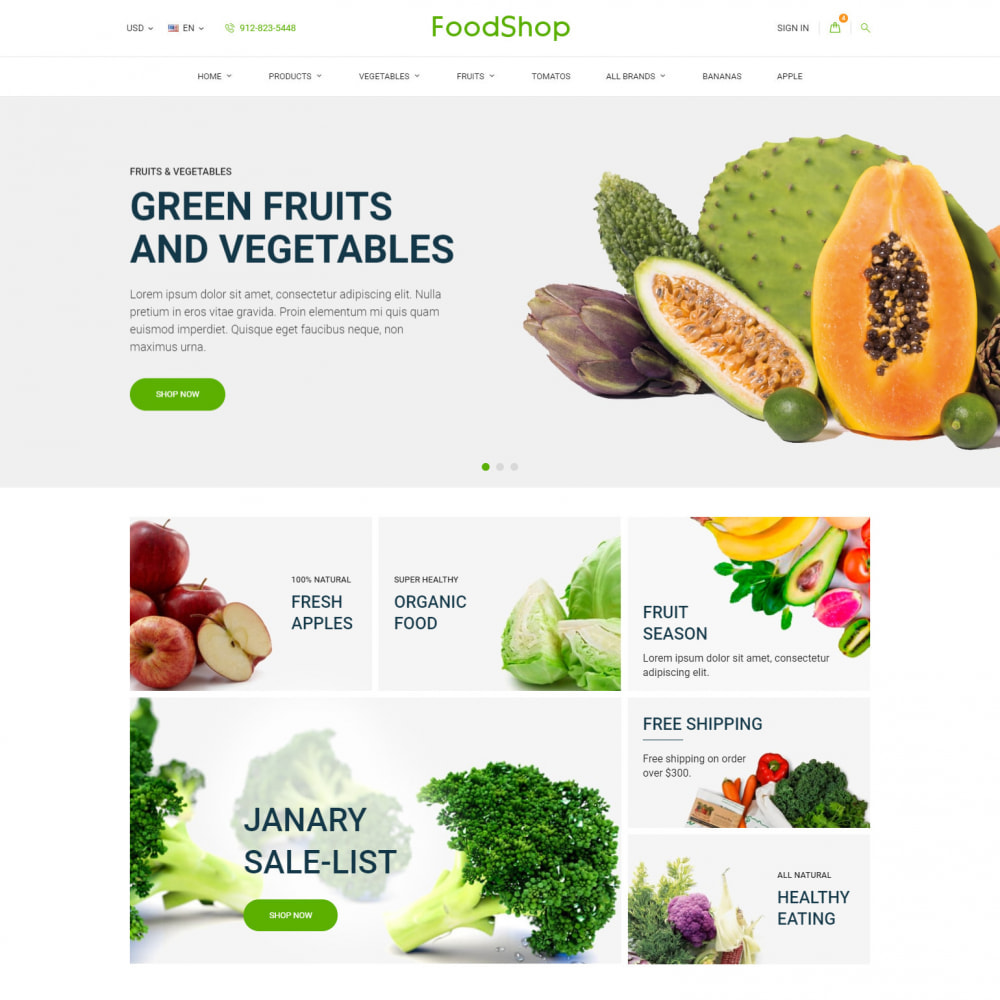 theme - Lebensmittel & Restaurants - Organic Garden - Food Store - 1