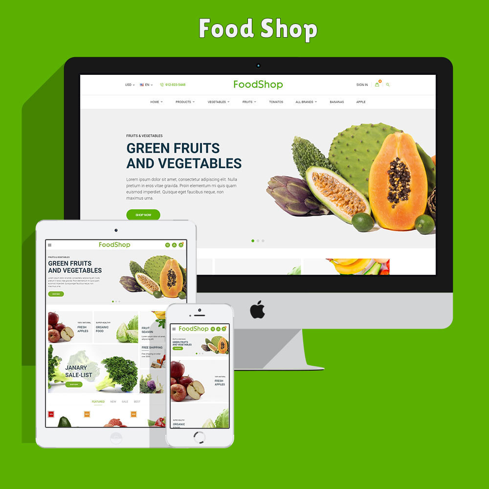 theme - Lebensmittel & Restaurants - Organic Garden - Food Store - 2
