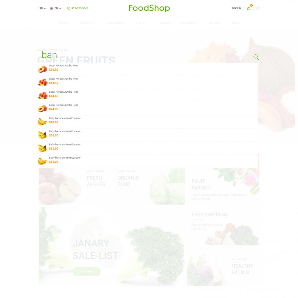 theme - Lebensmittel & Restaurants - Organic Garden - Food Store - 7