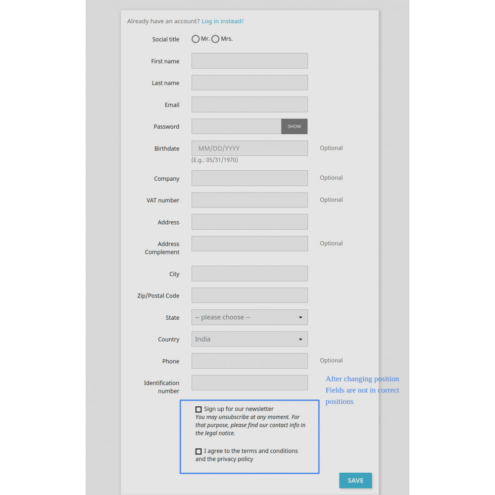 module - Front-Office-Funktionen - Add Customer Address On Registration Form - 6