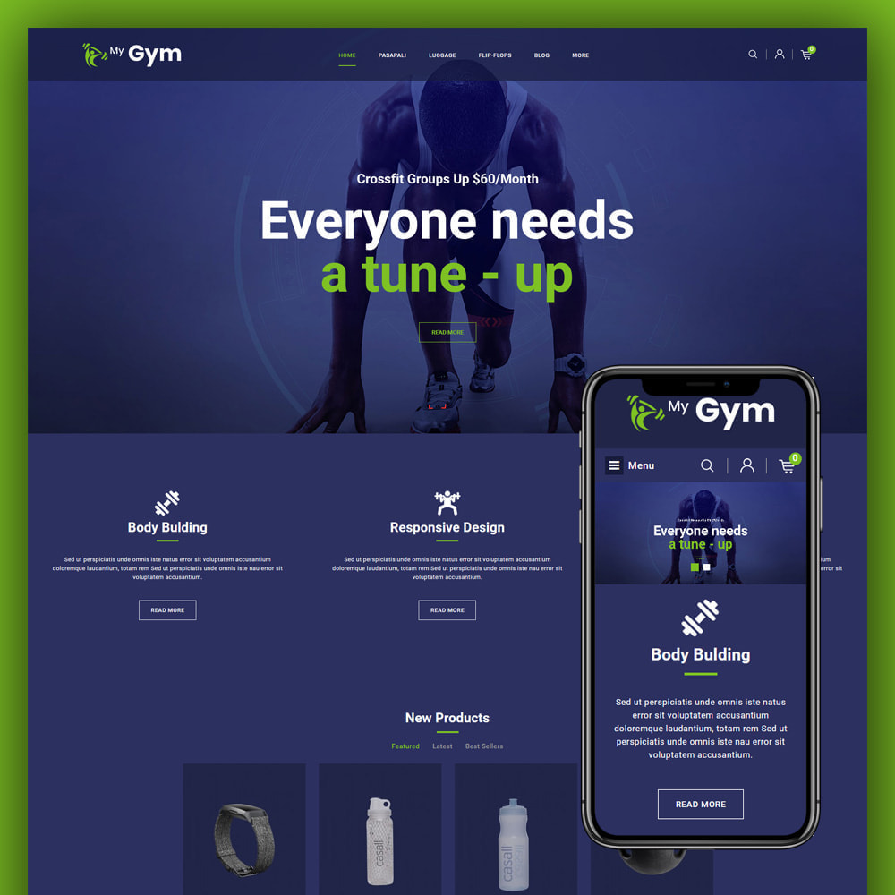 theme - Salud y Belleza - Gym Fitness Store - 1