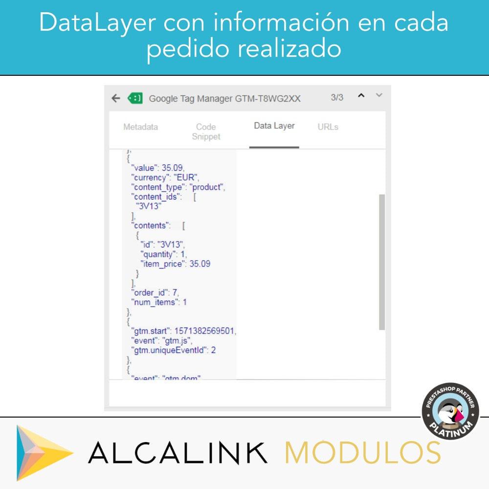 module - Informes y Estadísticas - Google Tag Manager + Complementos. Actividad usuarios. - 3