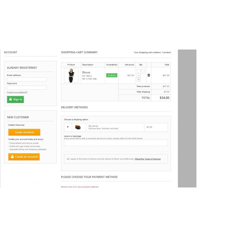 module - Express Checkout Prozesse - One Page Checkout - Responsive - 2