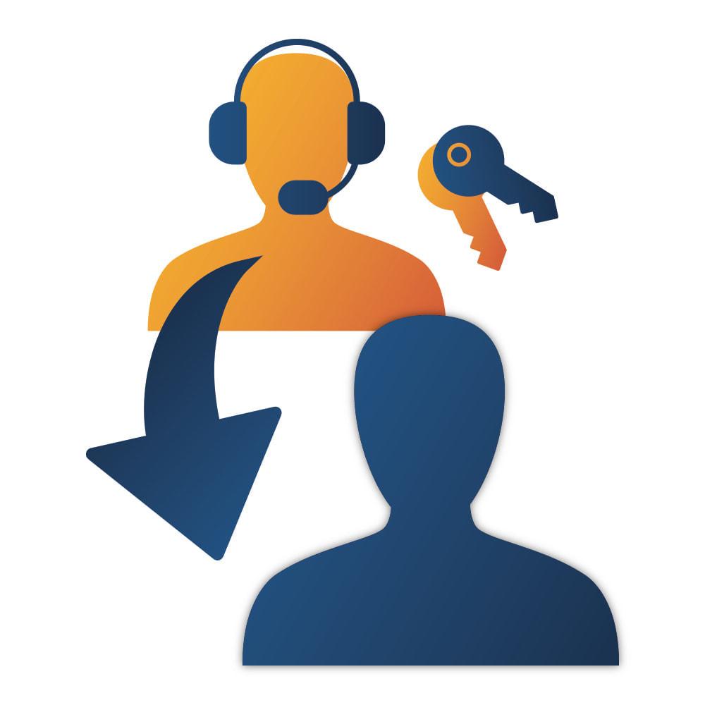 module - Registration & Ordering Process - Easy login as Customer - 1