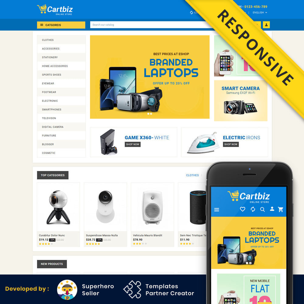 theme - Electrónica e High Tech - Cartbiz - Electronics Store - 1
