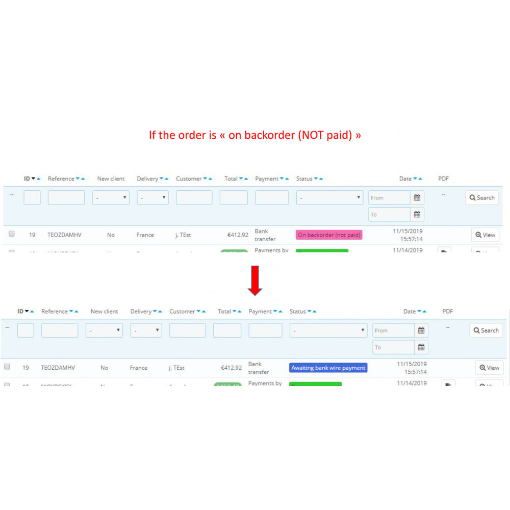 module - Order Management - Auto update On backorder status: when products in stock - 3