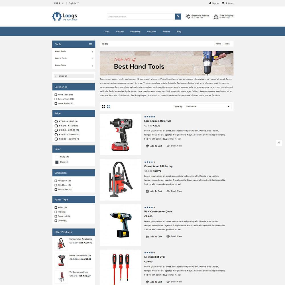 theme - Auto & Moto - Loogs Tools - 4
