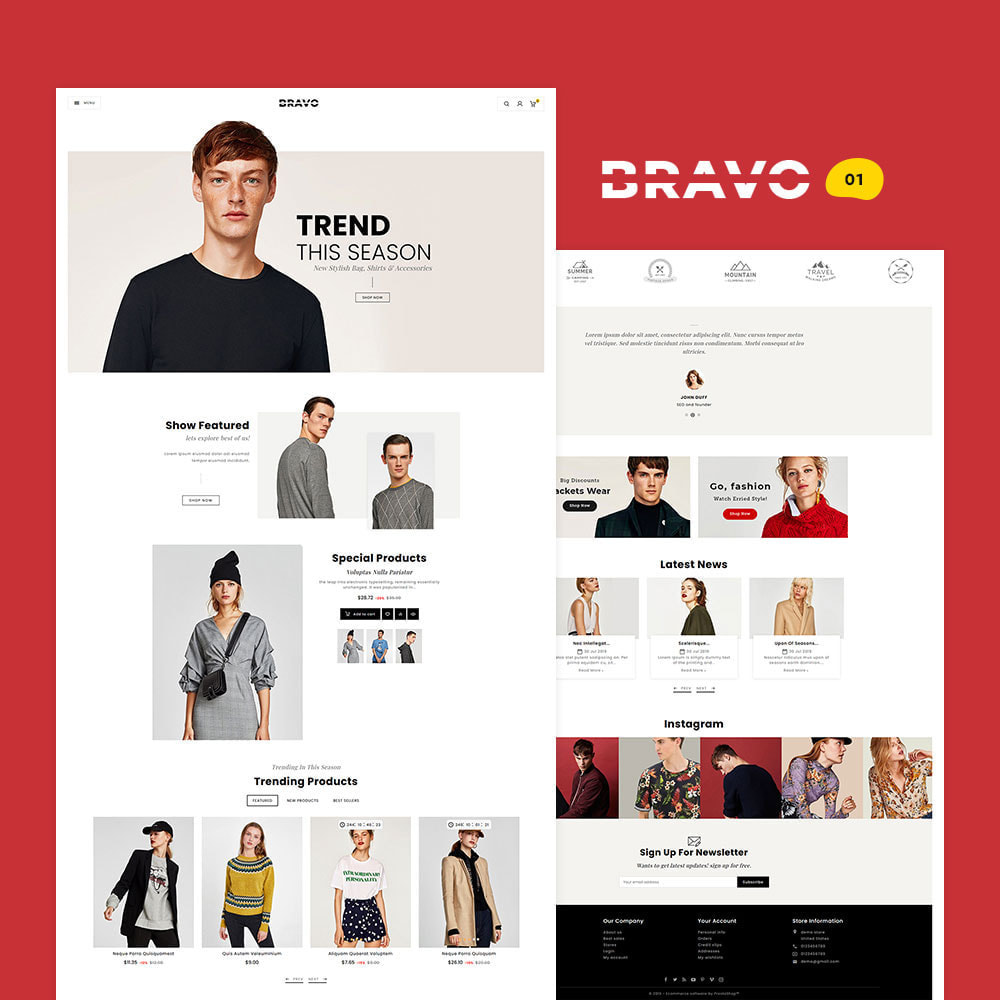 theme - Fashion & Shoes - BRAVO - Multi Purpose Boutique Shop - 2