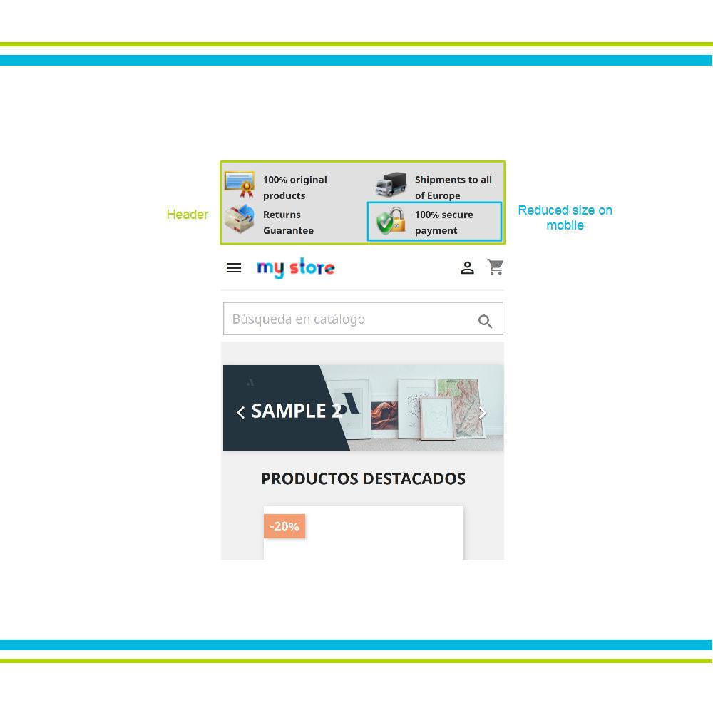 module - Personnalisation de Page - Ajouter de multiples éléments de réassurance animés - 17