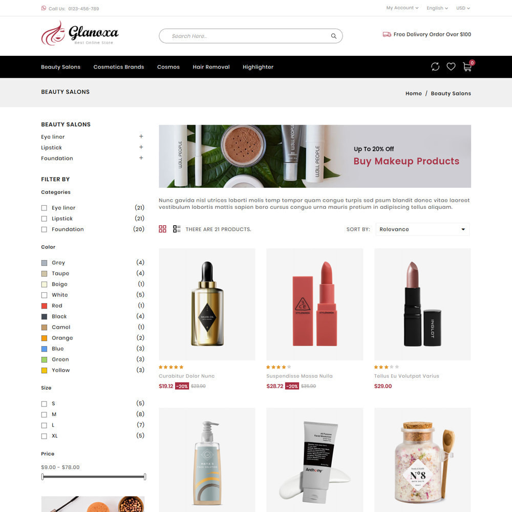 theme - Health & Beauty - Glanoxa - Cosmetic Store - 3