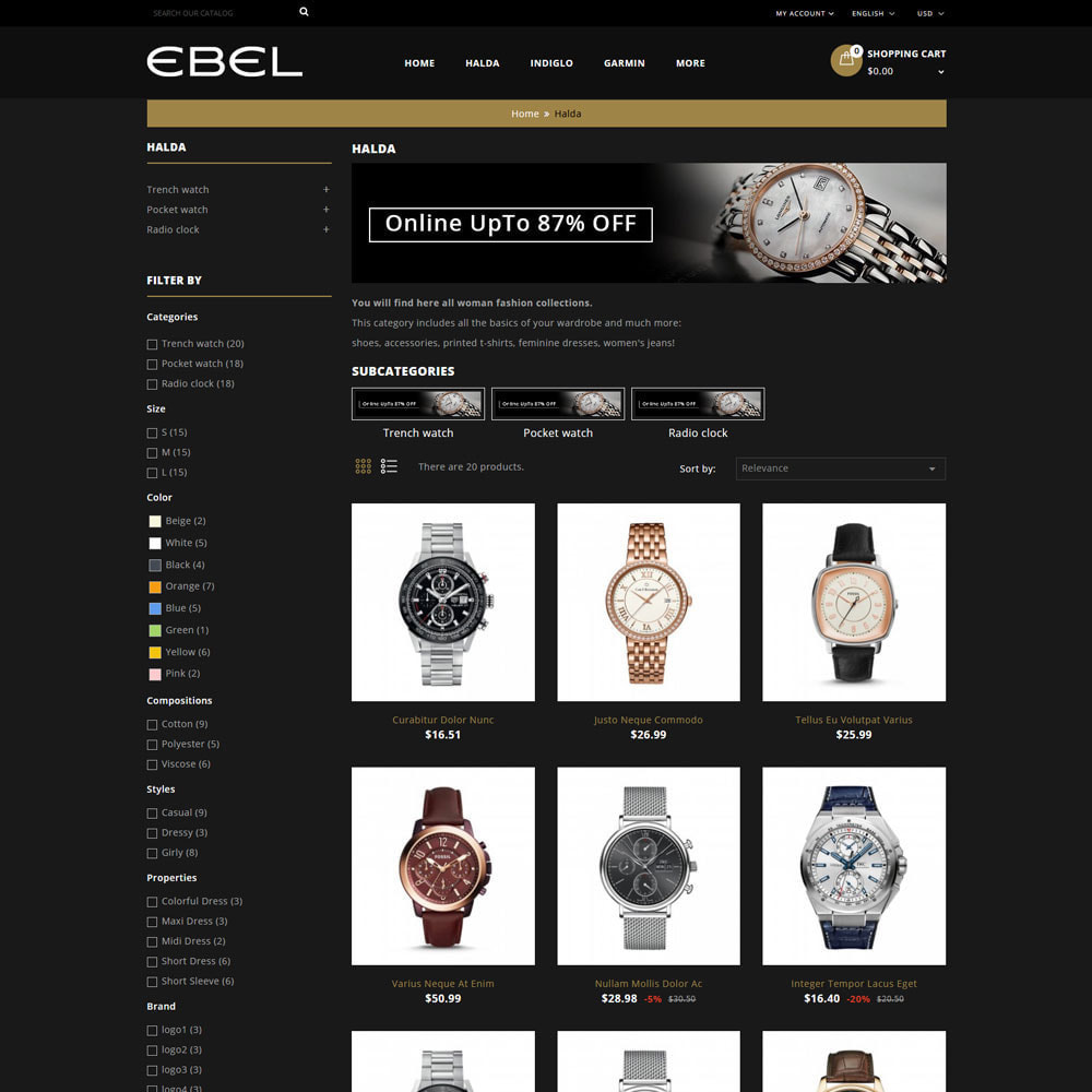 theme - Fashion & Shoes - Ebel Watch Store - 4