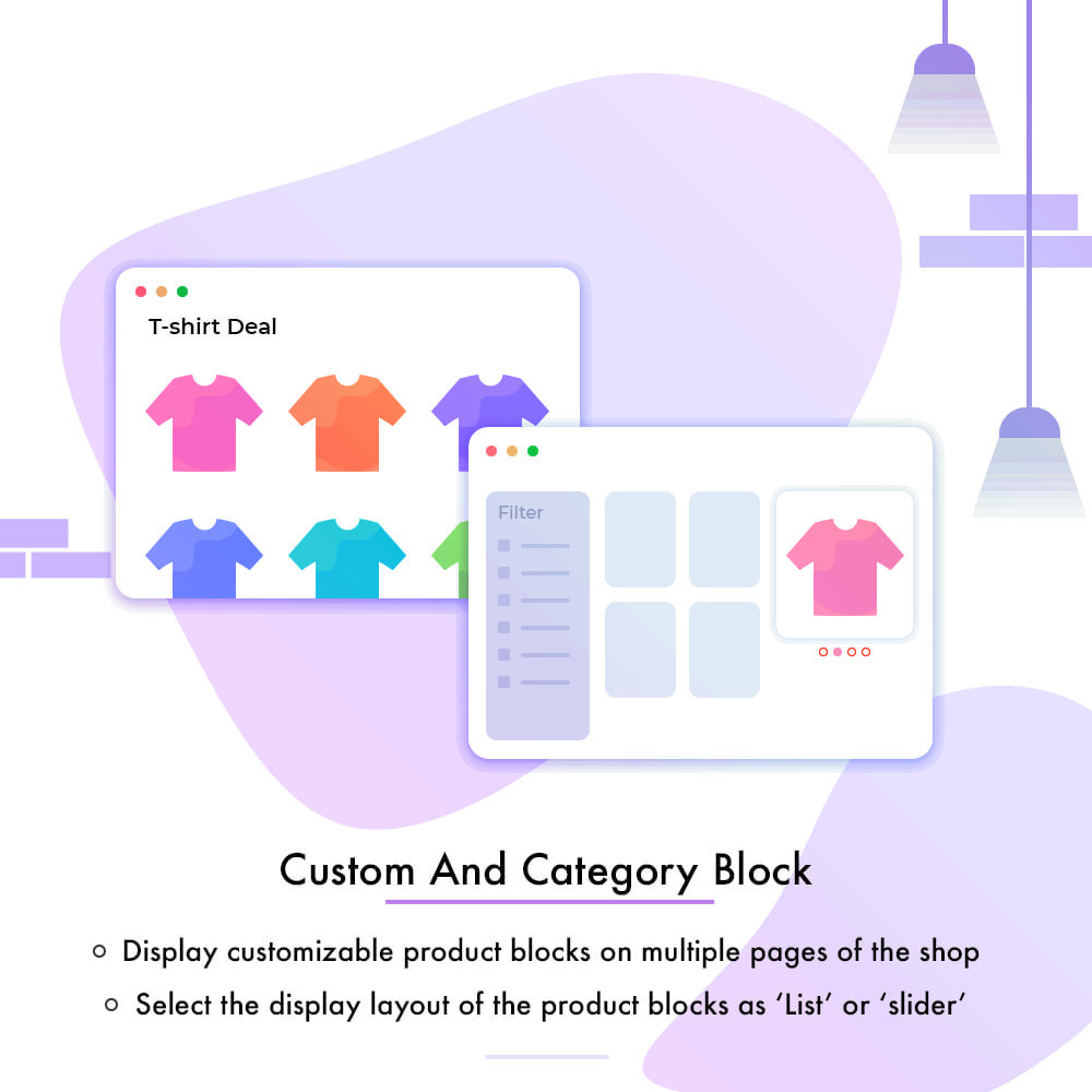 module - Blocos, Guias & Banners - Custom and Category Product Blocks - 1