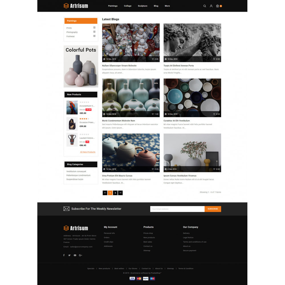theme - Art & Culture - Artrisum - Art & Print Store - 9