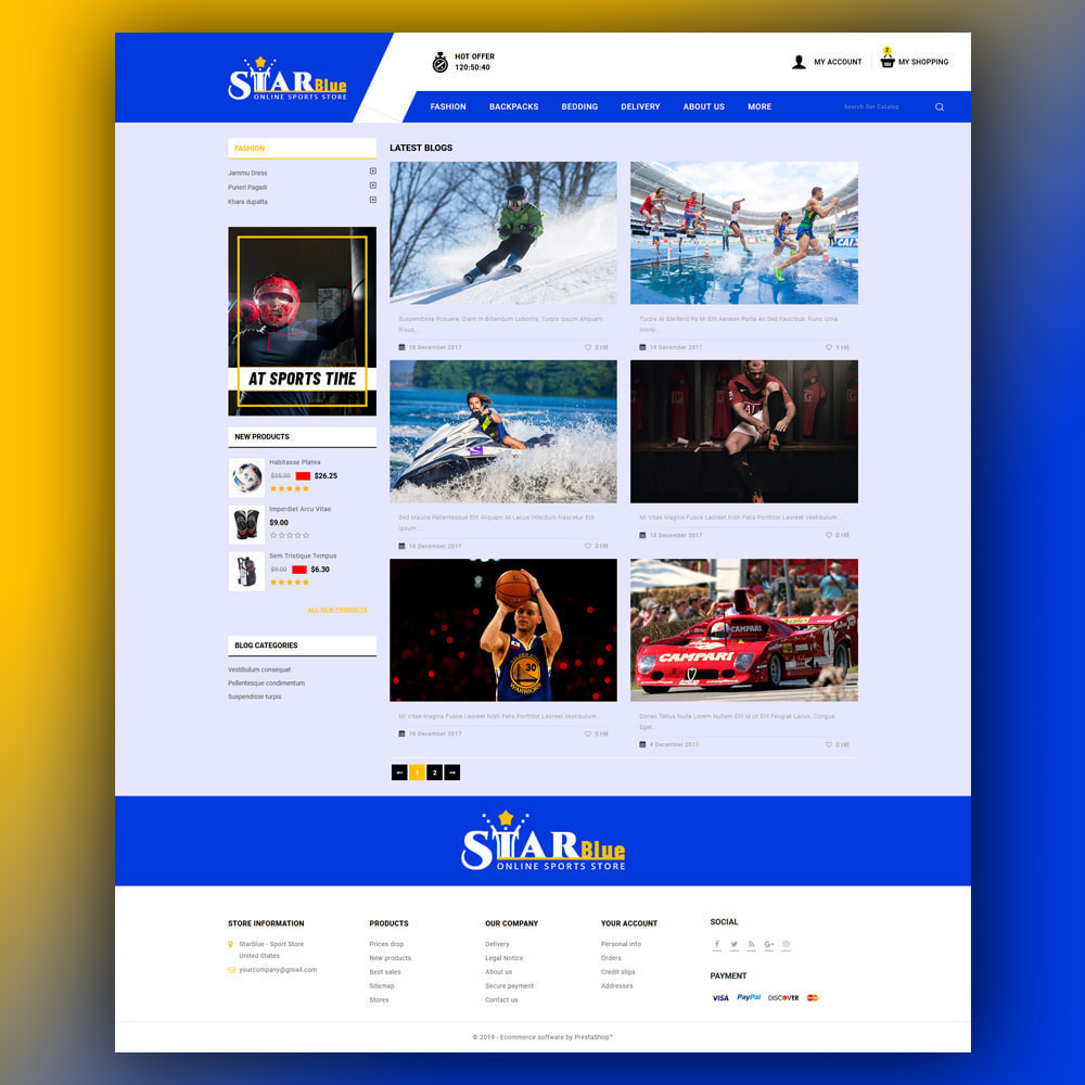 theme - Sport, Loisirs & Voyage - Starblue - Sport Store - 7