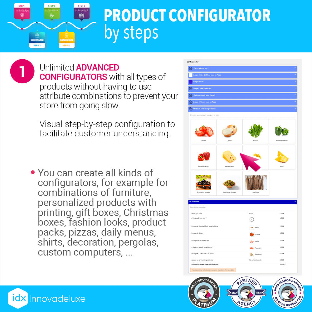 module - Combinations & Product Customization - Advanced product configurator by steps - 2