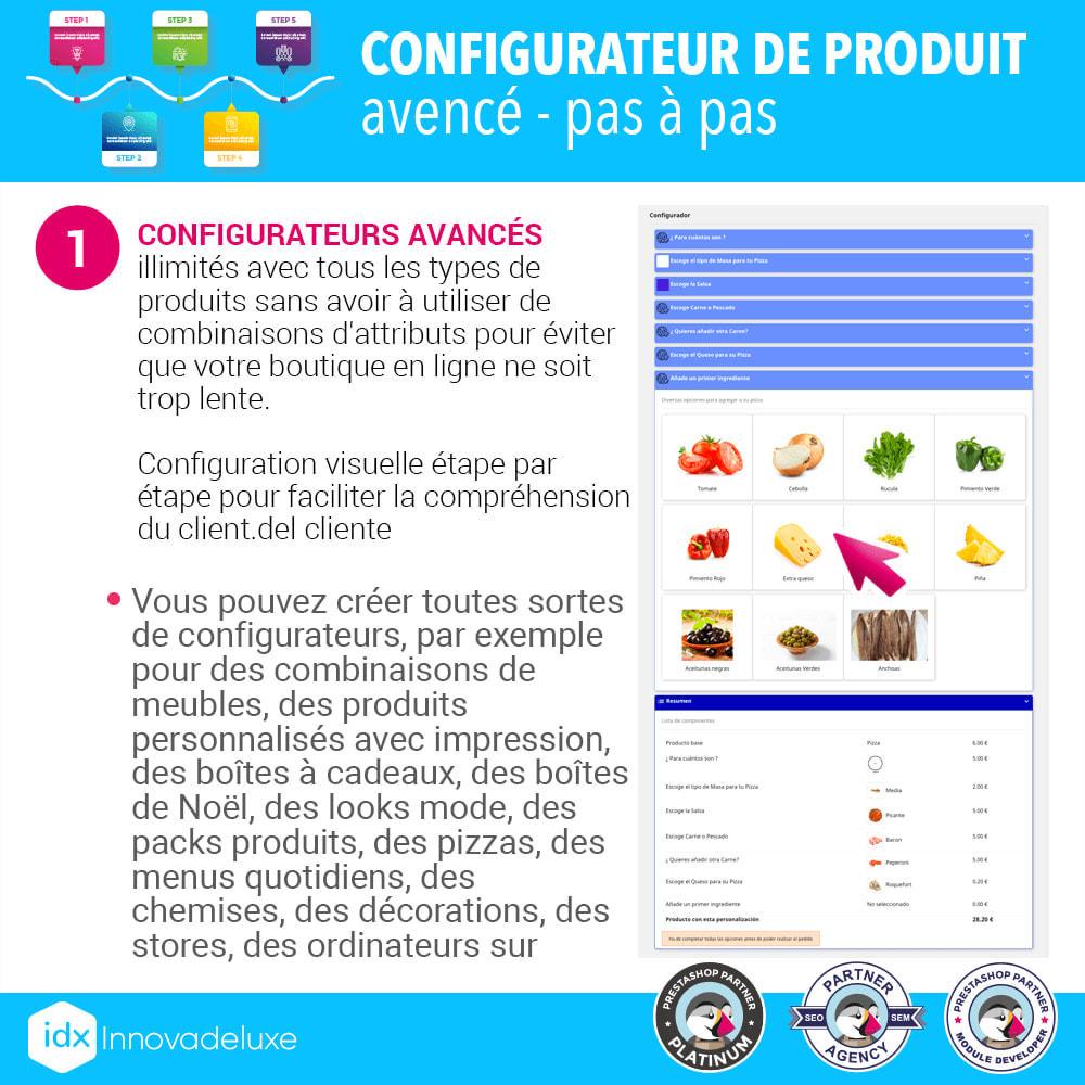 module - Déclinaisons & Personnalisation de produits - Configurateur de produit avancé - pas à pas - 2