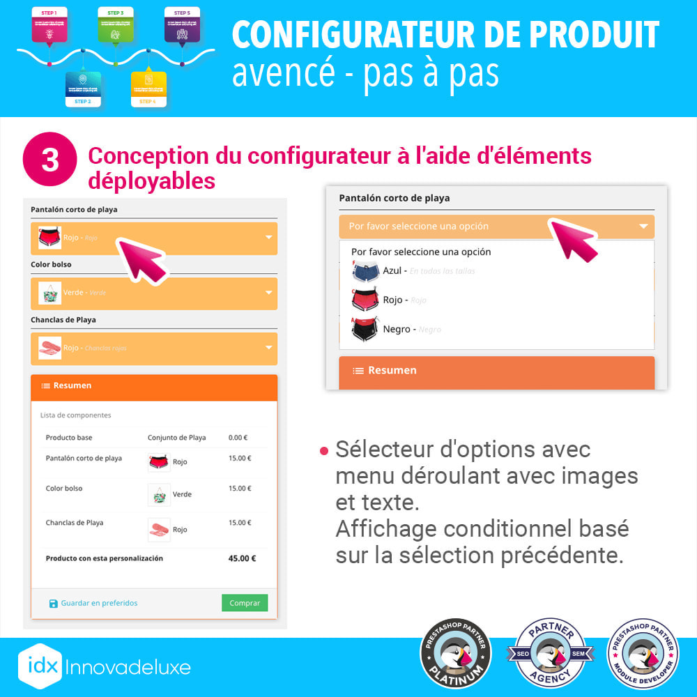 module - Déclinaisons & Personnalisation de produits - Configurateur de produit avancé - pas à pas - 4