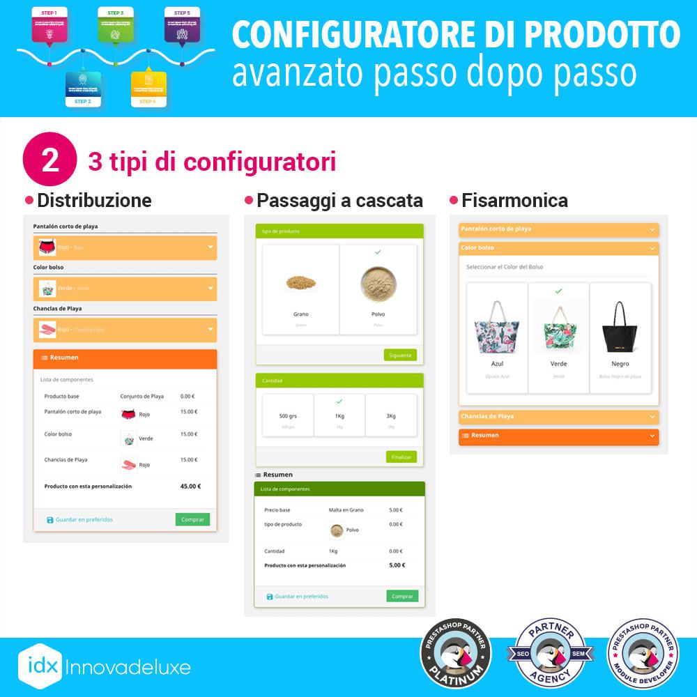 module - Combinazioni & Personalizzazione Prodotti - Configuratore di prodotto avanzato passo dopo passo - 3