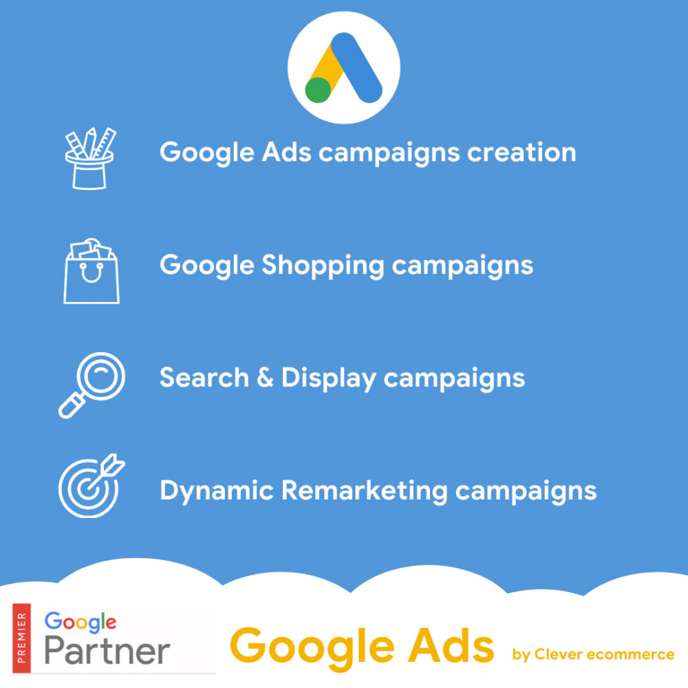 module - SEA SEM (paid advertising) & Affiliation Platforms - Clever Ecommerce for Google Ads & Google Shopping - 1
