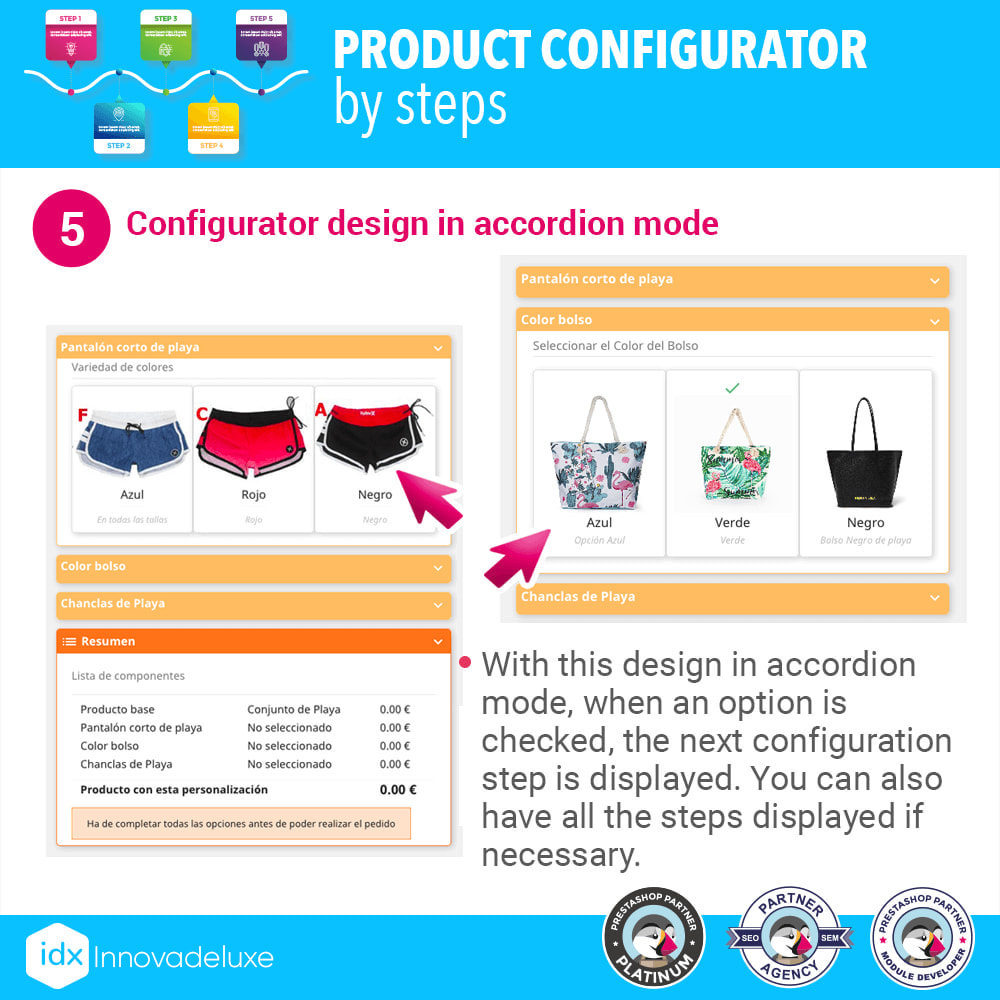 module - Versies & Personalisering van producten - Advanced product configurator by steps - 6