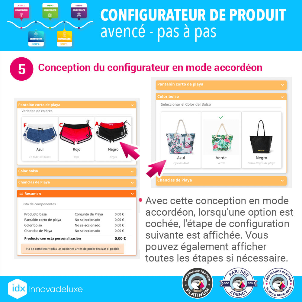 module - Déclinaisons & Personnalisation de produits - Configurateur de produit avancé - pas à pas - 6