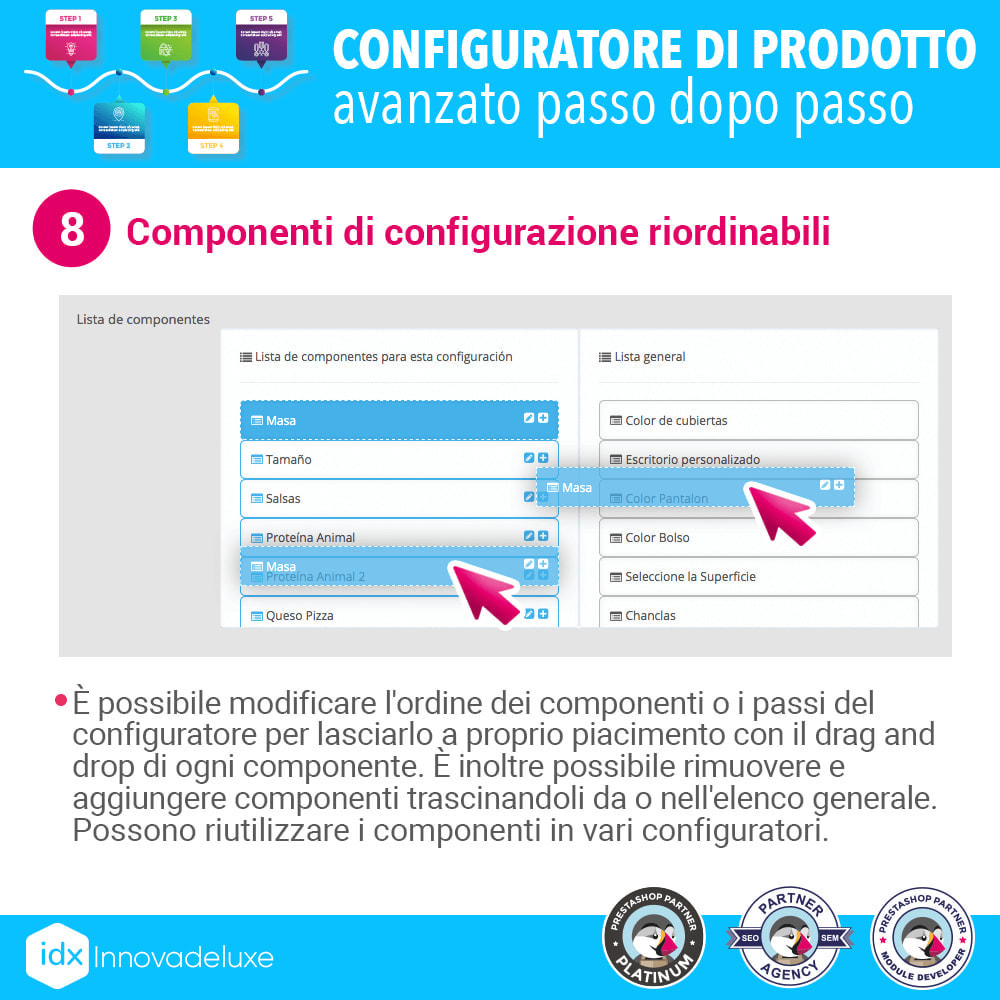module - Combinazioni & Personalizzazione Prodotti - Configuratore di prodotto avanzato passo dopo passo - 9
