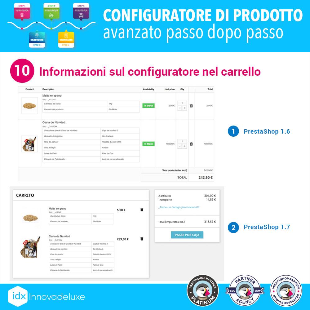 module - Combinazioni & Personalizzazione Prodotti - Configuratore di prodotto avanzato passo dopo passo - 11