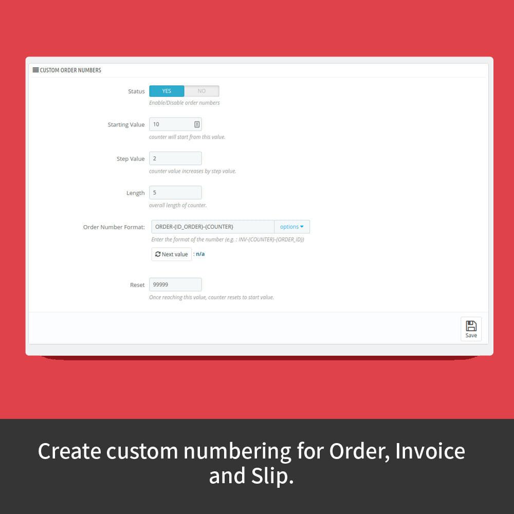 module - Buchhaltung & Rechnung - Custom Order Numbers - 3