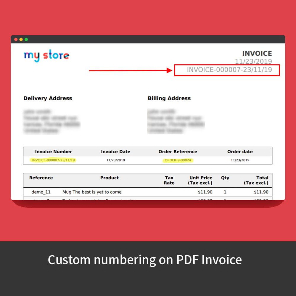 module - Buchhaltung & Rechnung - Custom Order Numbers - 8
