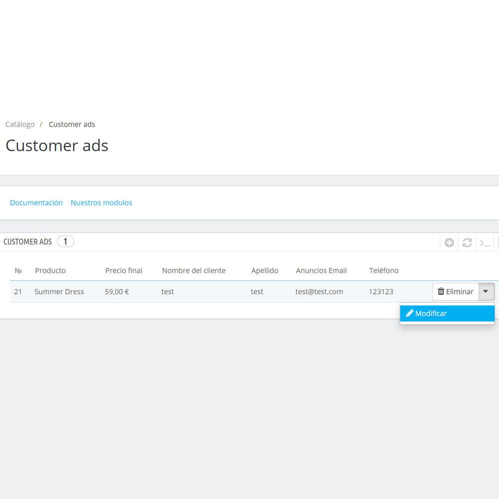 module - Creación de Marketplace - Tablón de anuncios para clientes - 7