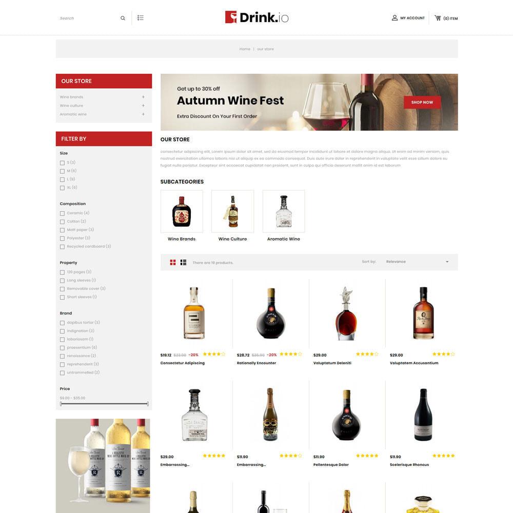 theme - Bebidas y Tabaco - Drinkio - La tienda de vinos - 5