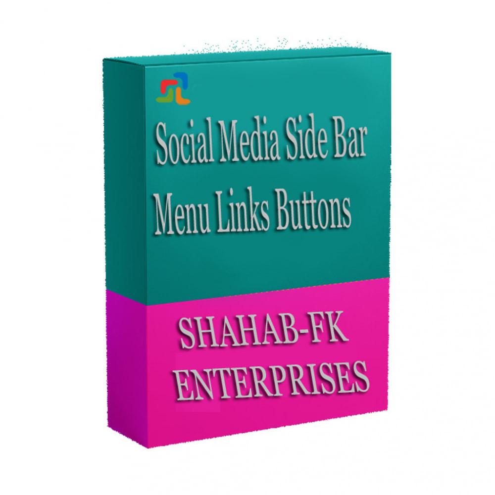 module - Social Widgets - Social Media Side Bar Links Buttons - 8
