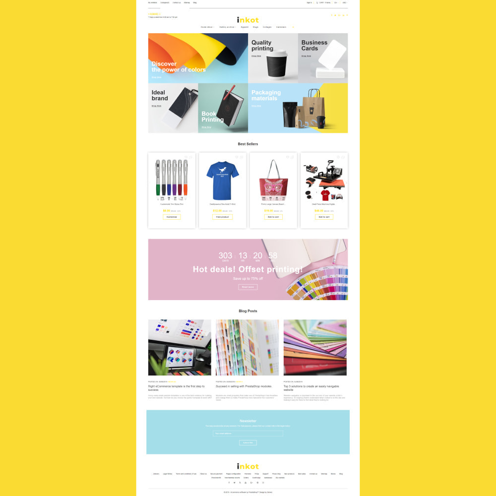 theme - Arte & Cultura - Inkot - Print Shop - 3