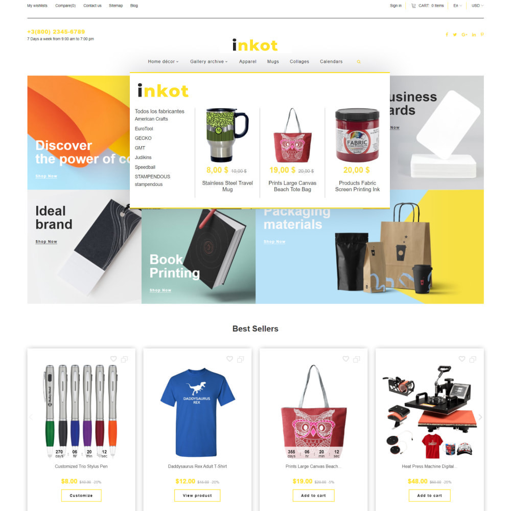 theme - Arte & Cultura - Inkot - Print Shop - 7