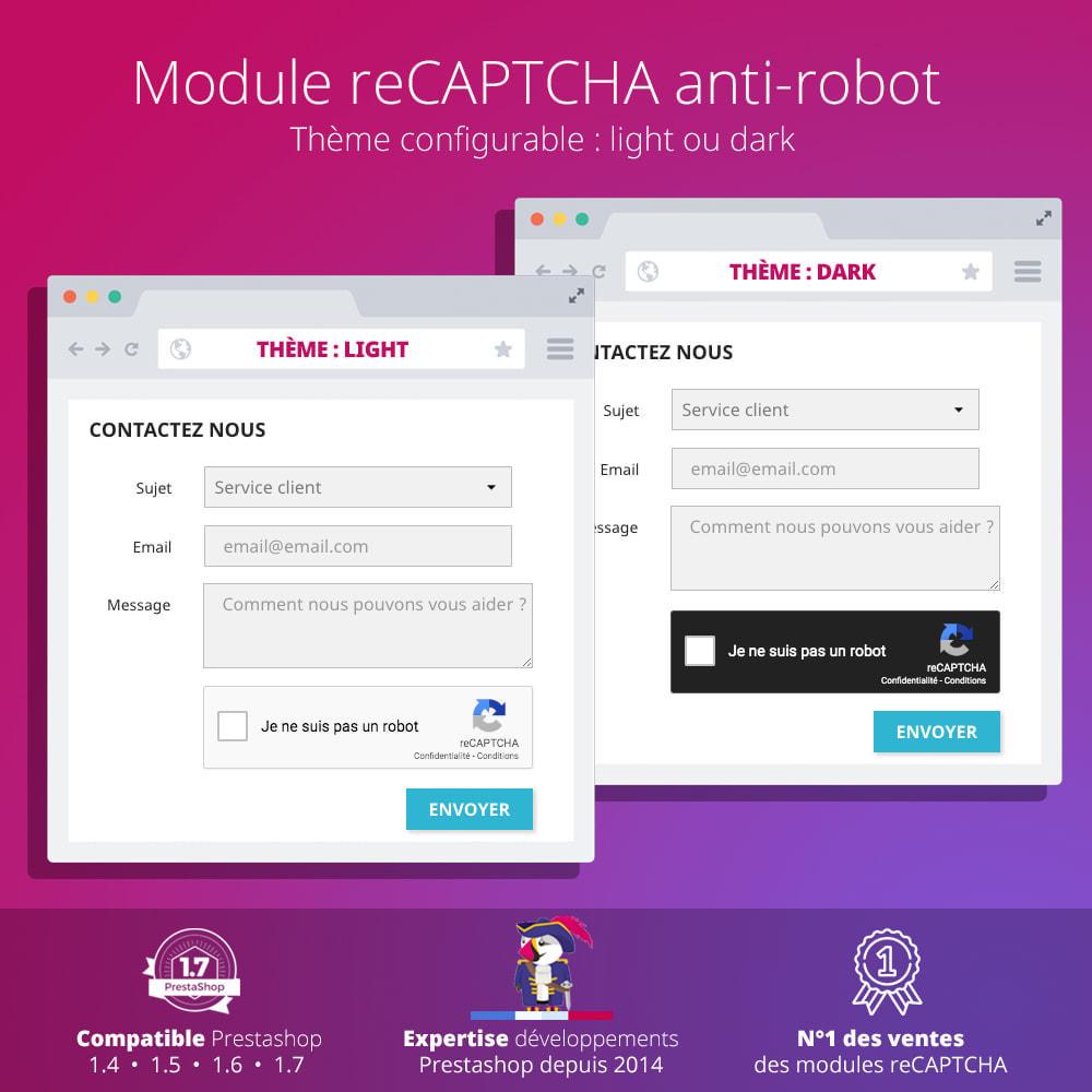 module - Sécurité & Accès - re Captcha - Anti Spam - recaptcha - anti faux comptes - 4