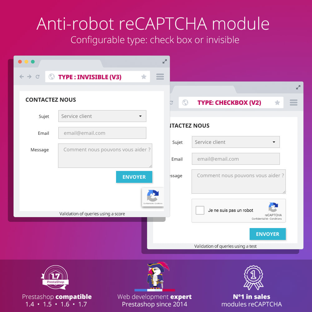 module - Безопасности и доступа - re Captcha - Anti Spam - recaptcha - anti fake accounts - 1